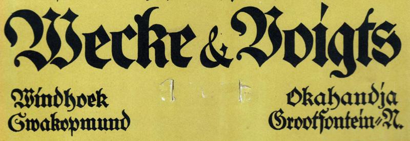 Wecke & Voigts Logo 1926