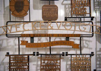 Wecke & Voigts - Timeline Installation. Wecke & Voigts Retail, Independence Ave